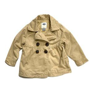 Khaki Biege Skirted Trench Coat